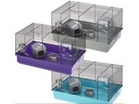 2x Small Purple Hamster Cages