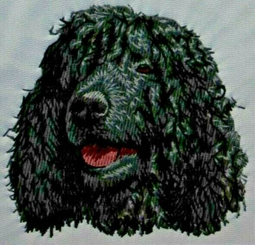 Irish Water Spaniel Dog Breed Bathroom SET OF 2 HAND TOWELS EMBROIDERED