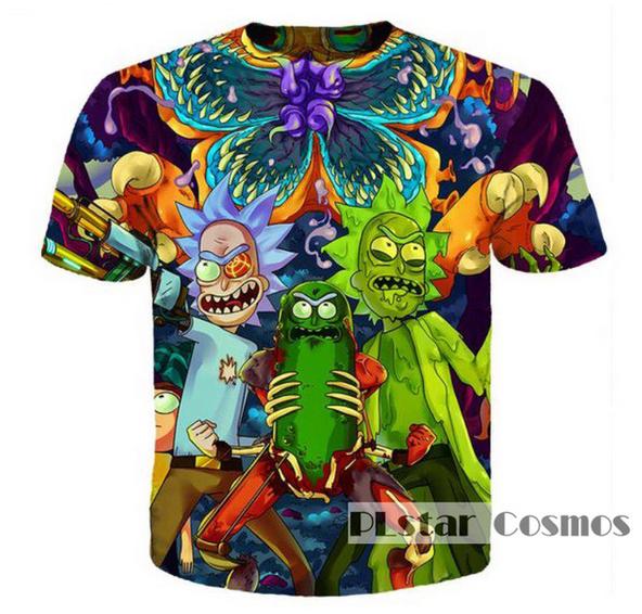 Hot New Fashion Women/Men Rick and Morty Funny 3D Print Casual T-Shirt TK283