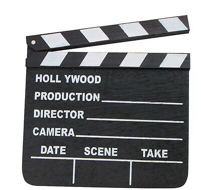 NEW HOLLYWOOD CLAPBOARD CLAPPER CLAP BOARD MOVIE SIGN DIRECTOR'S PROP CHALKBOARD - Clap Boards
