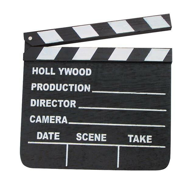 NEW HOLLYWOOD CLAPBOARD CLAPPER CLAP BOARD MOVIE SIGN DIRECTOR