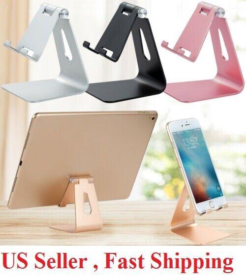 Universal Adjustable Cell Phone Tablet Desk Stand Holder  Desktop Aluminum metal Cell Phone Accessories