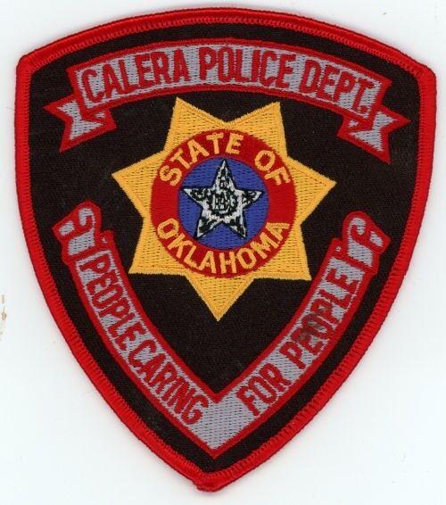 CALERA POLICE OKLAHOMA OK PATCH SHERIFF COLORFUL