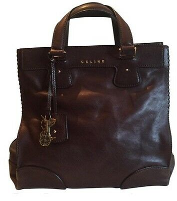 Celine Orlov Cacao (brown) Leather Tote with Adjustable Strap