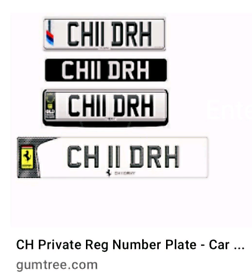 private registration plate number Choudhury