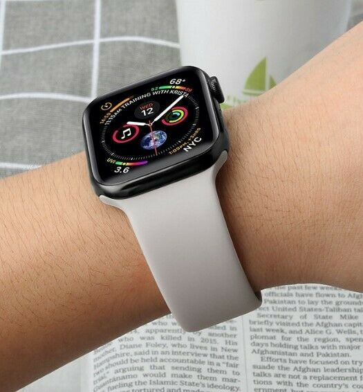 Cinturino orologio sportivo silicone Apple Watch Serie 5/4/3/2/1 38/40mm 42/44mm