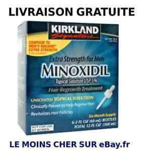 minoxidil 5 kirkland lotion anti chute des cheveux 3 mois de traitement ebay. Black Bedroom Furniture Sets. Home Design Ideas