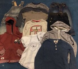 3-4 Boys clothes including winter coat and puddle suit - see all photos