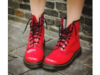 New size 5 red dr martens