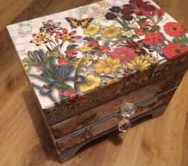 Beautiful handmade jewellery box