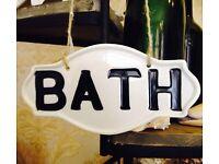 Bath Sign for Door