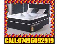 Single / Double / Small Double / King Size Bed Divan base with Mattress