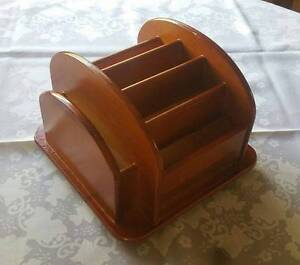 Timber TV Remote Control Caddy (VGC) Padstow Bankstown Area Preview
