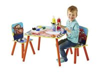 Lightning McQueen Table & Chairs