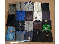 Genuine Gesigner Clothes Bundle - Large/XL 34/36w - Prada, True Religion, Hugo Boss, Armani, Dolce
