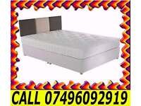 **100% GUARANTEED PRICE!**Small Double Bed/Double/Single/Kingsize Bed With Full Orthopaedic Mattress