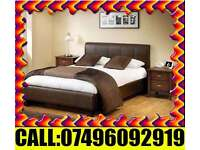 Double Bed -King size Leather Bed With Mattress Single Bed