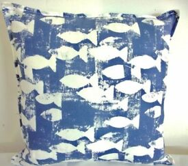 5 seaside/nautical cushion covers, new 40 x 40