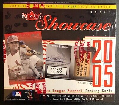 2005 Fleer Showcase Baseball Hobby Box FACTORY SEALED