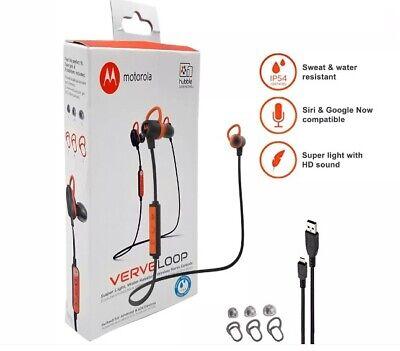 Motorola Verve Loop Wireless Stereo Earbuds Sweat/ Water Resistant Siri & Google for sale  Queens Village
