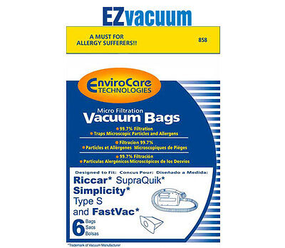 Simplicity Type S Canister Hand Vacuum Cleaner Bags