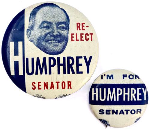 1954 Hubert Humphrey Minnesota U.S. Senate Campaign Buttons