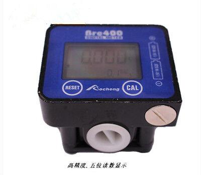 New Lcd 5-digital Oil Fuel Oval 12 Gear Flow Meter Diesel Gasoline Kerosene