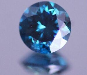 0.50 Carat Round Blue Natural Diamond Loose Sparkling for Engagement Ring ASAAR