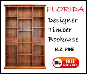 FREE DELIVERY - BRAND NEW Timber Wooden Bookcase Solid Pine New Farm Brisbane North East Preview