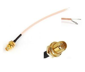 RP SMA Female To PCB Solder Pigtail Cable For WIFI RG178 LOW LOSS 20cm F3169K