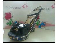 India rose shoes