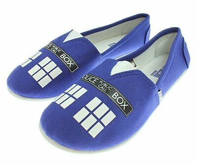 Doctor Who Women's Blue Tardis Slip On Shoes
