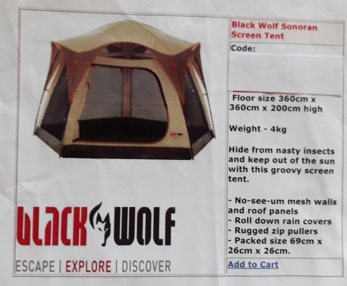 TENT - BLACK WOLF - SONORAN - SCREEN TENT Melrose Park Mitcham Area image 2. 1 of 2  sc 1 st  Gumtree & TENT - BLACK WOLF - SONORAN - SCREEN TENT | Camping u0026 Hiking ...