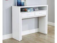 Regis extending console desk white