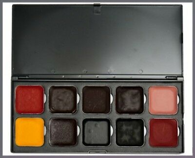 Smudge Proof Halloween Makeup ( Blood Palette Alcohol Activated FX Makeup ENCORE Smudge Water-Proof)