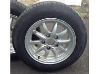 BMW wheels & Tyres x 4. 195/65R-15 - BRAND NEW. BMW Alloy Wheels x 4 Great Condition (Used)
