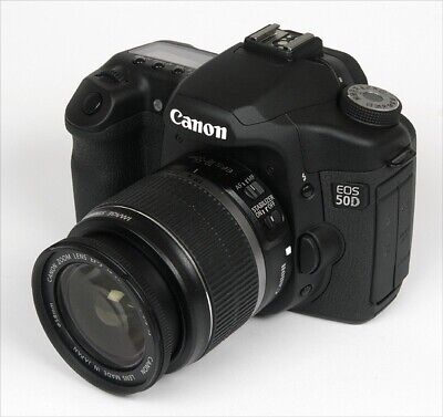 Canon EOS 50D 12.8MP Digital SLR Camera - Black with EF-S 18-55mm Lens