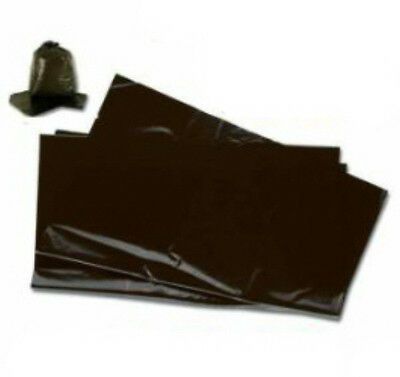 50x Large Black Plastic Bin Refuse Bags Sacks Liners Strong Heavy Duty 18x29x39