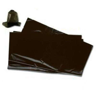 20x Black Refuse Sacks 140 Gauge / 35mic Dust Bin Liners Rubbish Bags 18x29x39