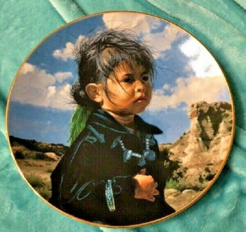 SWANSON PLATE - THE PROUD NATION - NAVAHO LITTLE ONE - 1988 PLATE W/ CERTIFICATE
