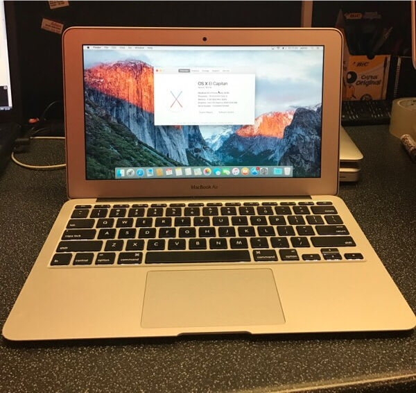 "MacBook Air Early 2015 i5 1.6ghz 4gb 128gb SSD525in Hackney, LondonGumtree - MacBook Air comes with receipt and warranty Here for sale is a 2015 Macbook Air 11"". It is in pristine condition with no marks or scratches and very little use. Bought as a back up for my MBP but has not been needed. Comes with the charger but no..."