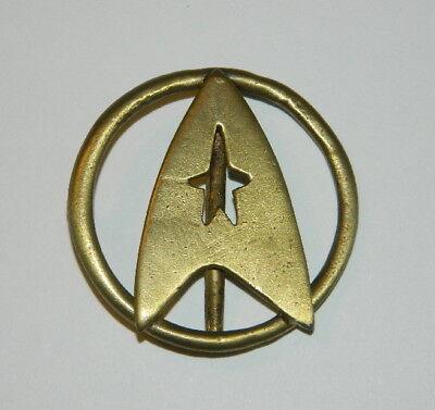 Star Trek Classic Movies Uniform Aged Brass Toned Metal Belt Buckle, NEW UNUSED - Star Trek Movie Uniforms