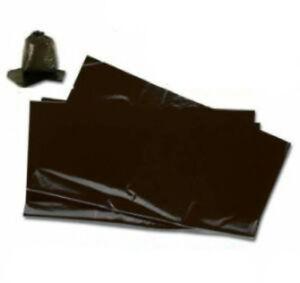 200 Large Black Plastic Bin Refuse Bags Sacks Liners Strong Heavy Duty 18x29x39 Ebay