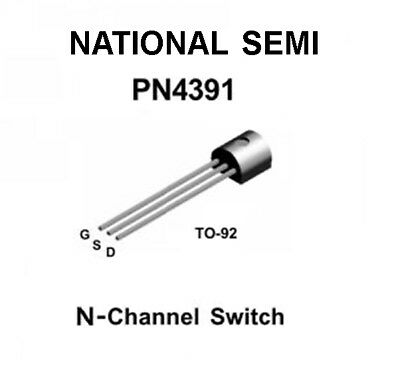 5 Pack National Pn4391 To-92 Single N-channel Jfet Audio Switch Transistor New