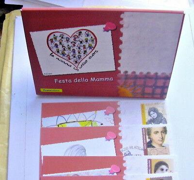 """italia 2018, folder 4 cartoline """"festa della mamma"""" mother day"""