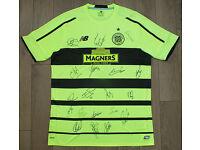 Glasgow Celtic FC 2015/16 signed shirt. Scottish Premiership champions.
