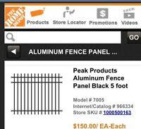 Fencing - Black Aluminum