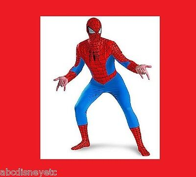 DISNEY Store Costume Spiderman NEW Mens Adult XL  Marvel The Amazing Spider Man  - Mens Disney Costume