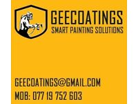 Gee Coatings. Spray painting and all kind of decorating work.