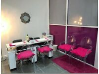 Salon for sale. Refurbished with equipment and furniture. Located in heart of Slough highstreet.